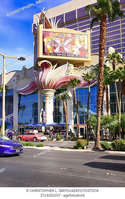 The Flamingo hotel on the strip in Las Vegas, Nevada