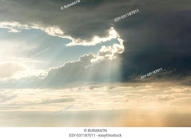 Dark cloud in the rainy season
