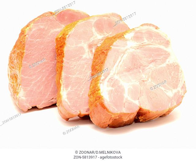 big peaces of meat isolated on white