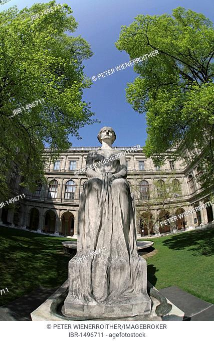Statue Castalia, University of Vienna, Vienna, Austria, Europe