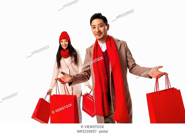 Young couples shopping in the New Year