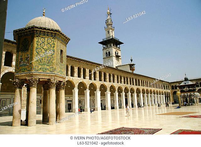 The Umayyad Mosque built 705-715 by caliph Al-Walid I, Damascus. Syria