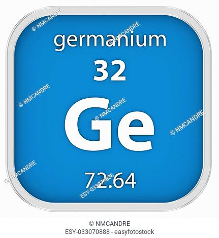 Germanium material on the periodic table. Part of a series
