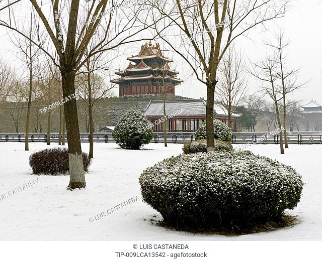 China, Beijing, The Forbidden City, in winter