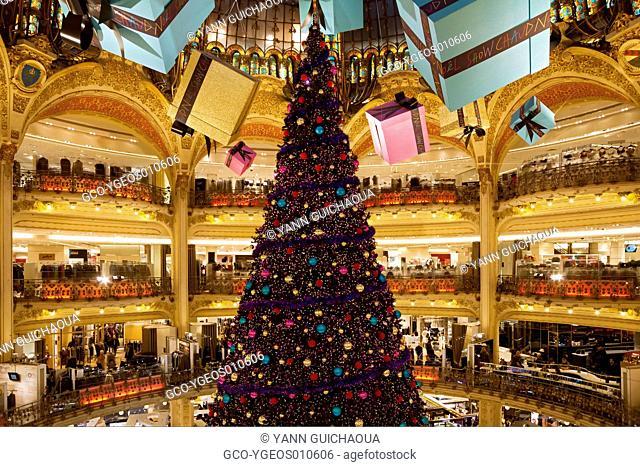 Christmas, Galeries Lafayette, Paris, France