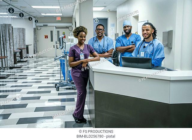 Portrait of smiling nurses in hospital