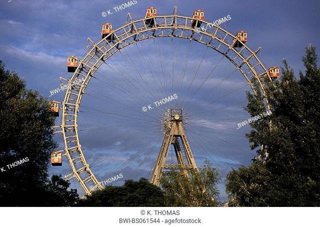 Giant Ferry Wheel (Riesenrad), Prater Vienna, Austria, Vienna, 2. district, Vienna - Prater