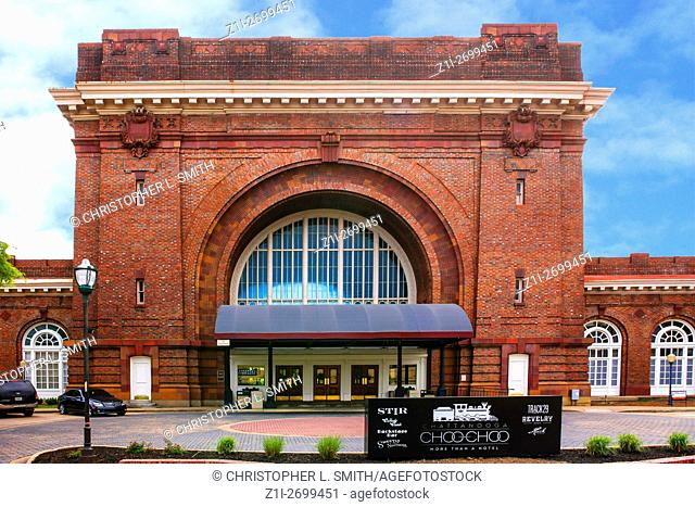 The Chattanooga Choo-Choo hotel, once a grand railway station in the heart of Chattanooga, Tennessee