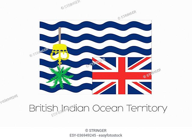 A 180 Degree Rotated Flag of British Indian Ocean Territory