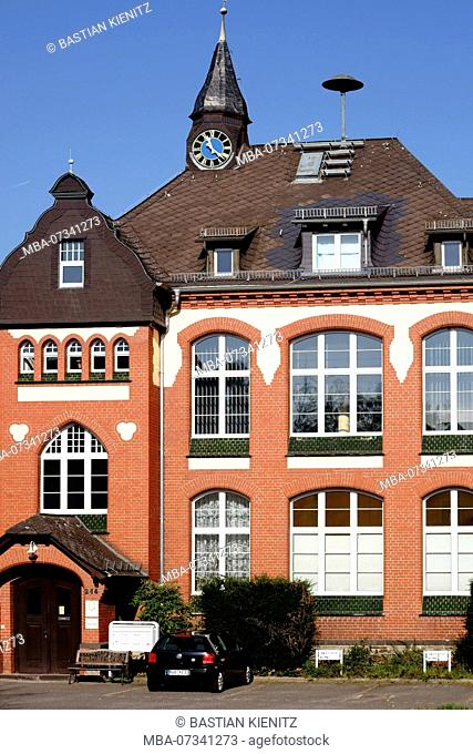 The newly renovated old town Hall is a brick building in Taunusstein-Wehen