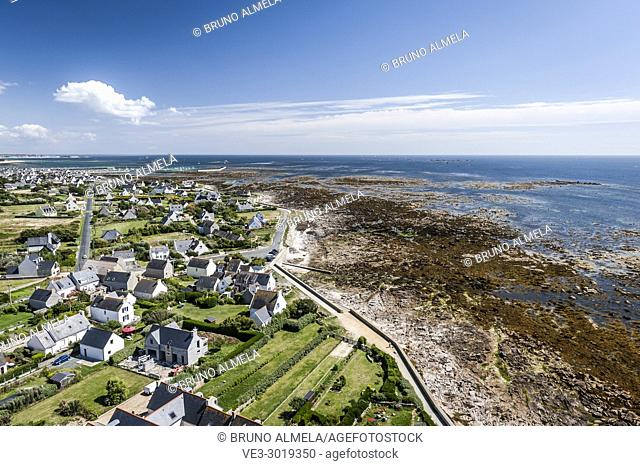 View of Penmarch (department of Finistère, region of Bretagne, France)