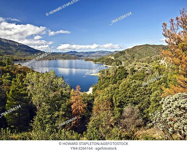 Whiskeytown Lake and the Whiskeytown National Recreation Area. Northern California. Phographed before the Carr fire of 2018