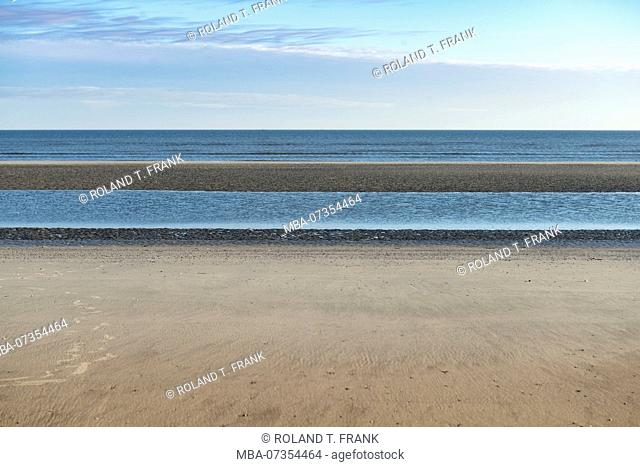 Germany, Lower Saxony, East Frisia, Juist, view of the North Sea