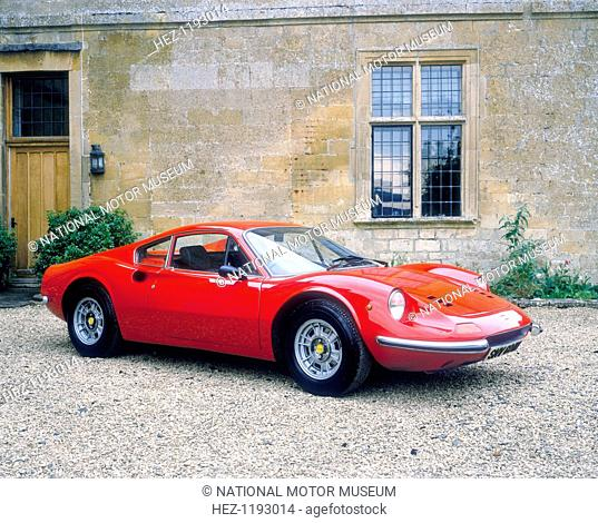 1973 Ferrari Dino 246 GT. Named after Enzo Ferrari's son Dino, who died in 1956, this Ferrari, in common with all versions of the Dino