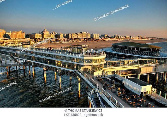 View from Casino Pier, Scheveningen on the North sea coast, Den Haag, The Netherlands
