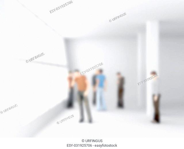 abstakt image of people in the office center with a blurred background