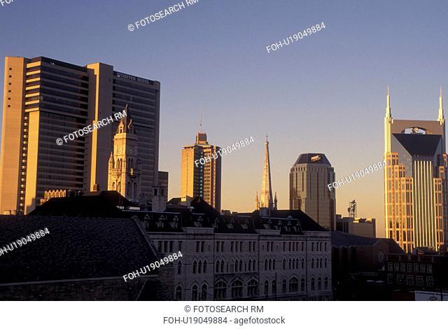 Nashville, TN, Tennessee, downtown, skyline