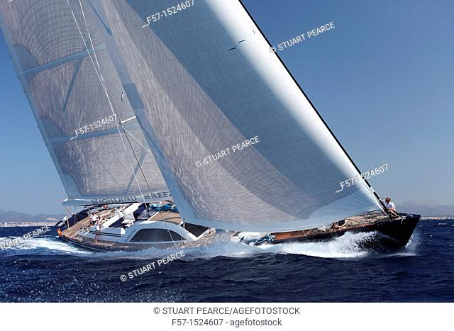 Highland Breeze in the Superyacht Cup In Palma de Mallorca, Spain