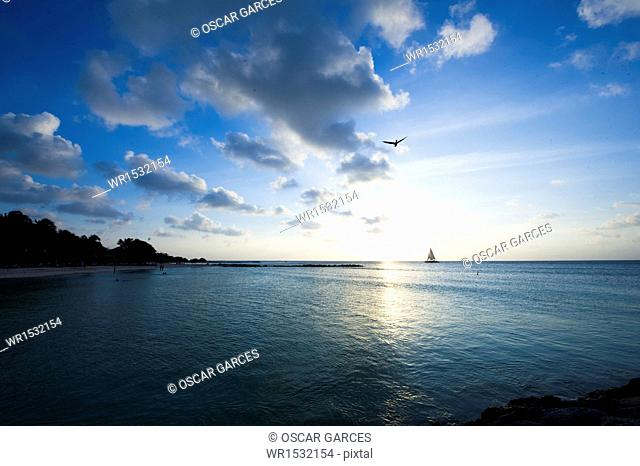 Palm Beach, Oranjestad, Aruba, Lesser Antilles, Central America