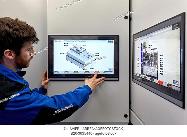 Control cabin, Vertical lathe, Machining Center, CNC, Design, manufacture and installation of machine tools, Gipuzkoa, Basque Country, Spain, Europe