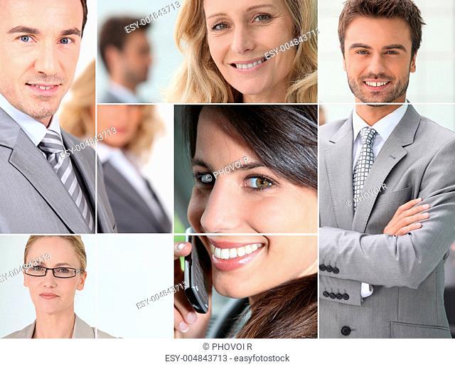 Businessmen mosaic