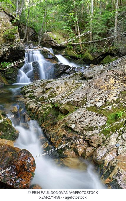 Cascade along Cold Brook in Randolph, New Hampshire during the summer months