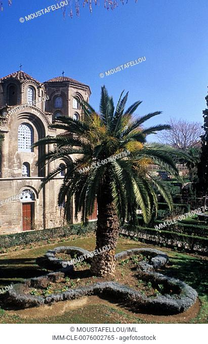 Panagia Halkeon Church, palm tree , Greece:Central Macedonia:Thessaloniki