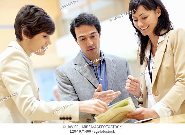 Executives at Convention Center, Business, Donostia, San Sebastian, Basque Country, Spain