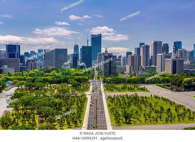 Japan, Tokyo City, Chiyoda District, Imperial Palace esplanade