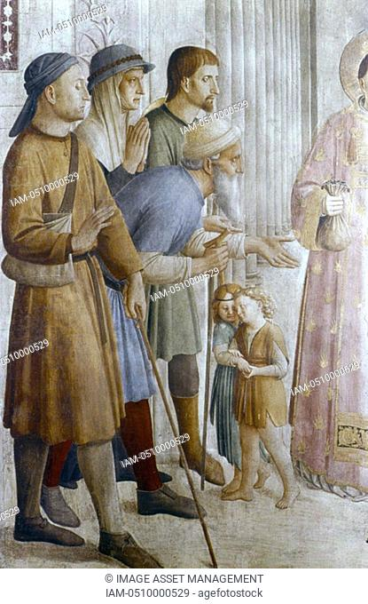 Fra Angelico Guido di Pietro/Giovanni da Fiesole c1400-55 Italian painter  'St Lawrence Feeding the Poor', detail Vatican Museum, Rome