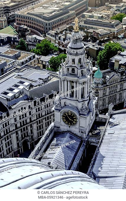 Panoramic of London from St. Paul's Cathedral, England, United Kingdom