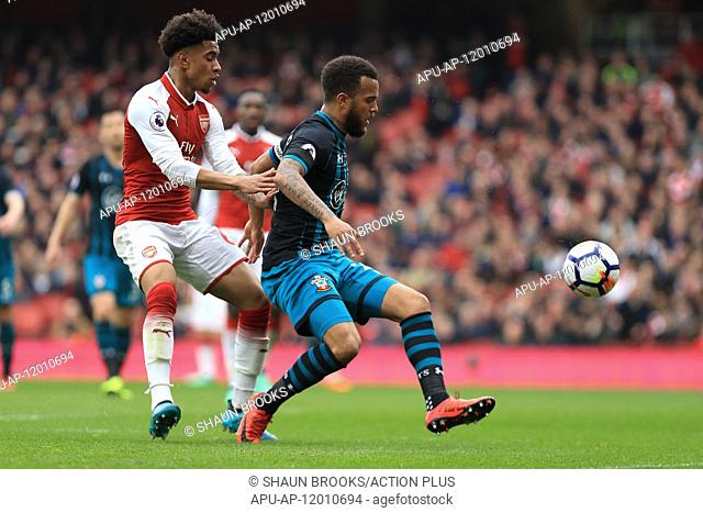2018 EPL Premier League Football Arsenal v Southampton Apr 8th. 8th April 2018, Emirates Stadium, London, England; EPL Premier League football