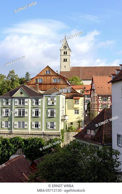 Upper town of Meersburg, Überlinger lake, Baden-Wurttemberg, Germany