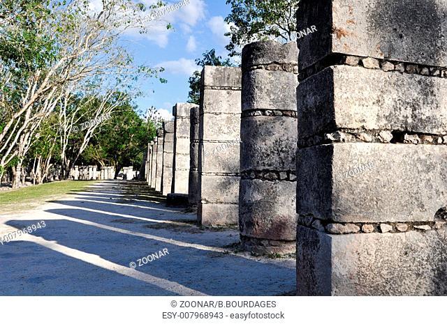 Chichen Itza Mayan Ruins 1000 Columns