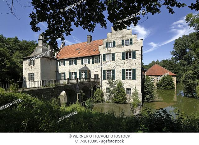 Dortmund, Luetgendortmund, D-Dortmund, Ruhr area, Westphalia, North Rhine-Westphalia, NRW, D-Dortmund-Luetgendortmund, moated castle Haus Dellwig