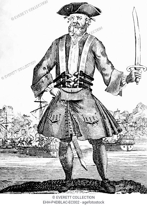 Blackbeard, (aka Edward Teach), (aka Edward Thatch), English pirate, died 1718