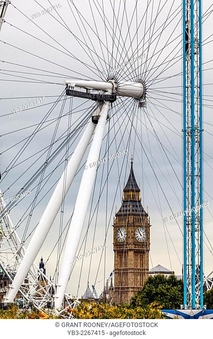 The London Eye and Big Ben, London, England