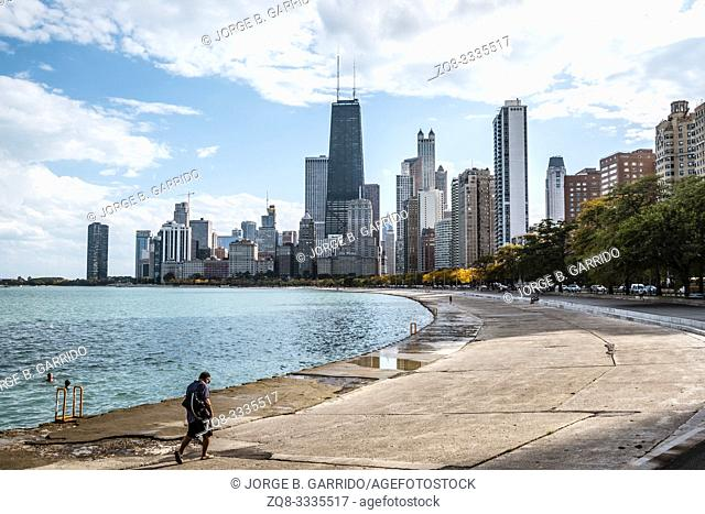 A view of chicago from Chess Pavilion