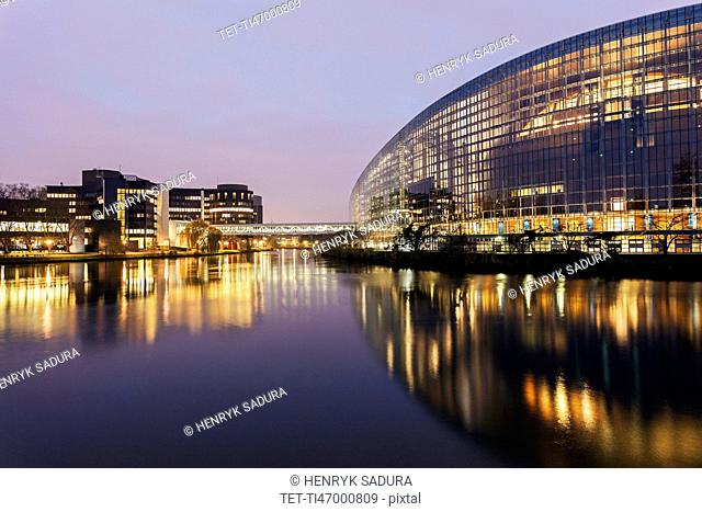 European Parliament at sunrise