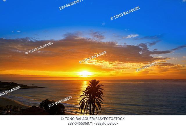 Tarragona Balcony of Europe at sunrise in Catalonia