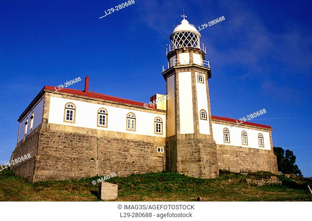 Lighthouse at Isla de Ons. Atlantic Islands National Park. Pontevedra province, Spain