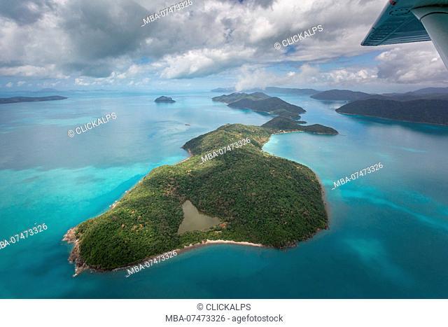 Whitsunday Islands, Queensland, Australia, aerial view