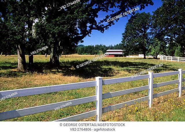 Willamette Valley fence, Polk County, Oregon