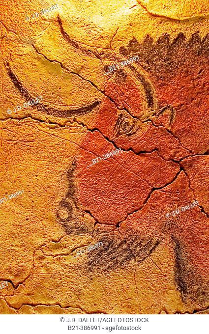 Painting of the Altamira cave. Santander. Spain