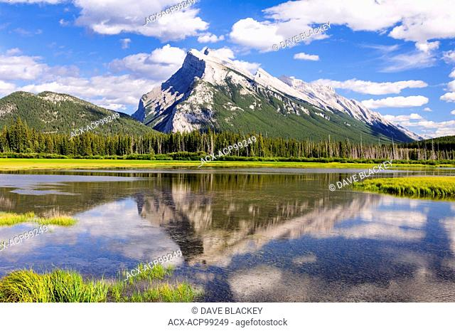 Mt. Rundle at Vermilion Lakes near Banff, Alberta