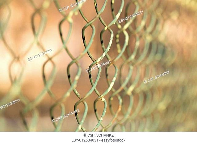 metal fence with mesh