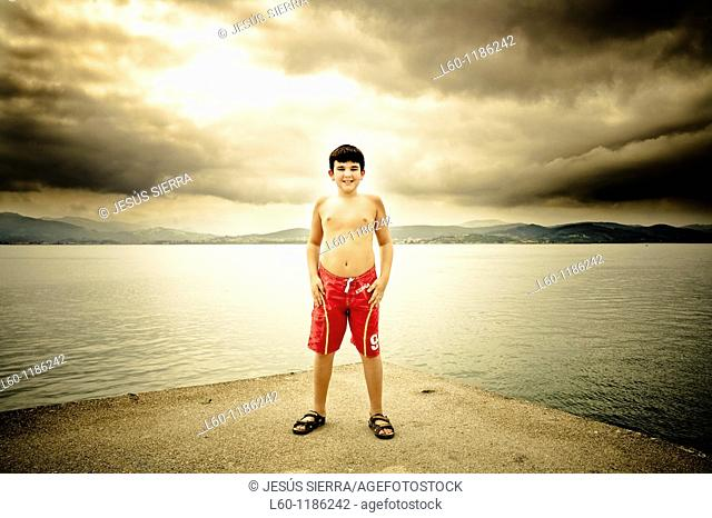 Boy in Santoña, Cantabria, Spain