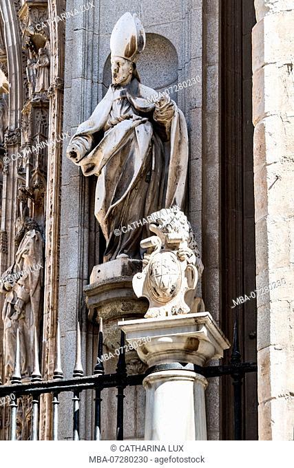 Spain, Toledo Catedral, 'Catedral Primada', Lion Portal
