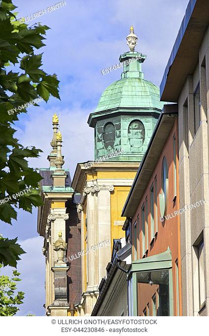 Western corner steeple of Kalmar Cathedral, Kalmar County, Sweden