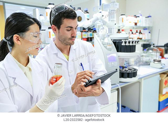 Researchers. Microbiology lab. Chemical Analysis Laboratory. Technological Services to Industry. Tecnalia Research & Innovation, Donostia, San Sebastian